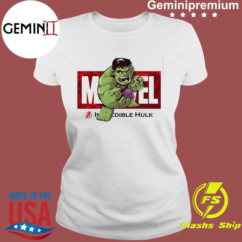 Marvel The Avengers Q Version Of The Hulk Shirt Ladies tee