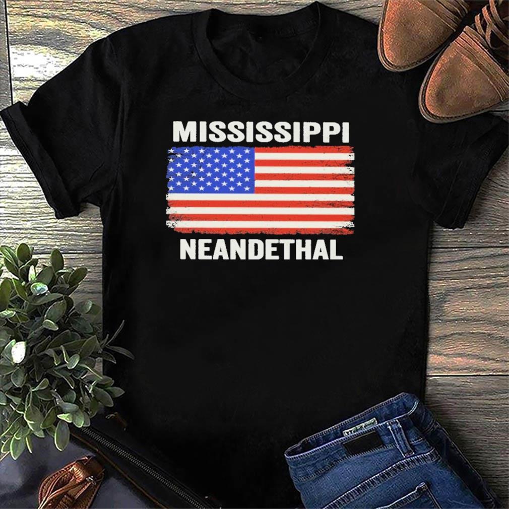 American Flag Mississippi Neanderthal Shirt