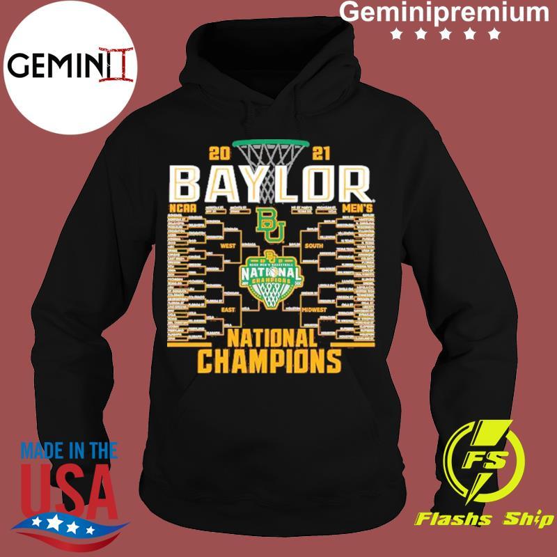 Baylor Bears Blue 84 2021 NCAA Men's Basketball National Champions Bracket T-Shirt Hoodie