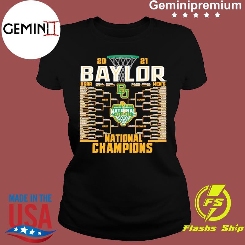 Baylor Bears Blue 84 2021 NCAA Men's Basketball National Champions Bracket T-Shirt Ladies tee