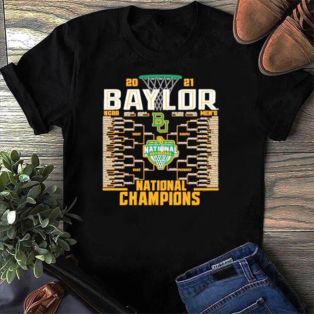 Baylor Bears Blue 84 2021 NCAA Men's Basketball National Champions Bracket T-Shirt