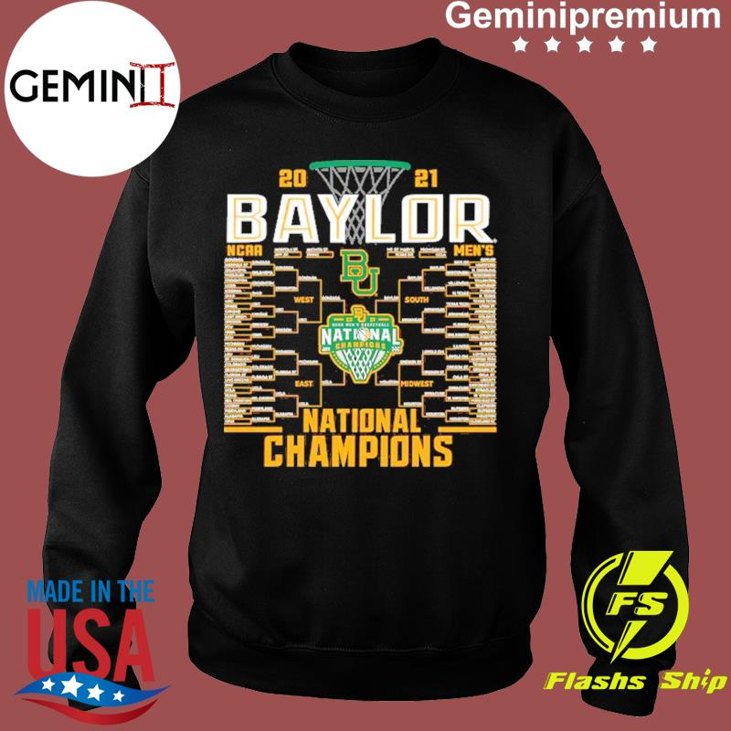 Baylor Bears Blue 84 2021 NCAA Men's Basketball National Champions Bracket T-Shirt Sweater