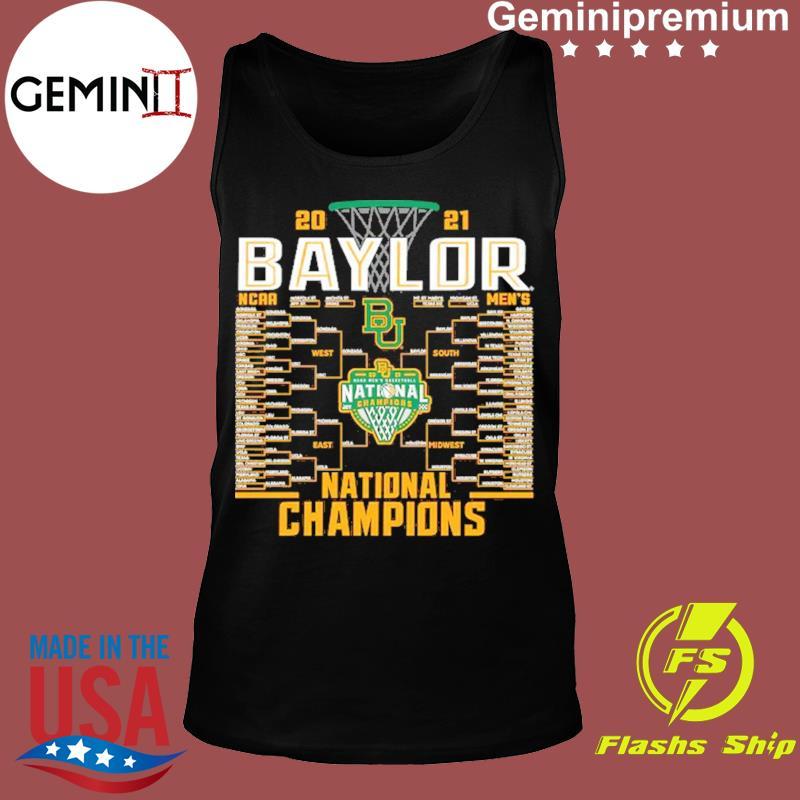 Baylor Bears Blue 84 2021 NCAA Men's Basketball National Champions Bracket T-Shirt Tank top