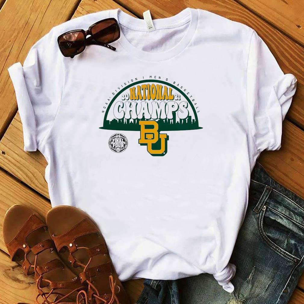 Baylor Bears Fanatics Branded 2021 NCAA Men's Basketball National Champions Screen Space Dye T-Shirt