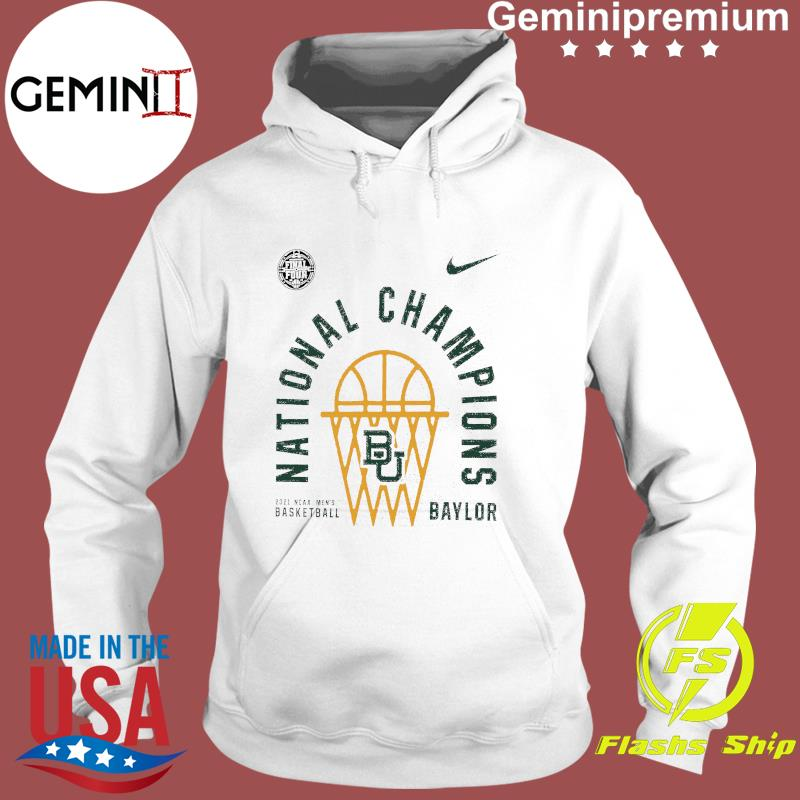 Baylor Bears Nike 2021 NCAA Men's Basketball National Champions Arc Velocity T-Shirt Hoodie