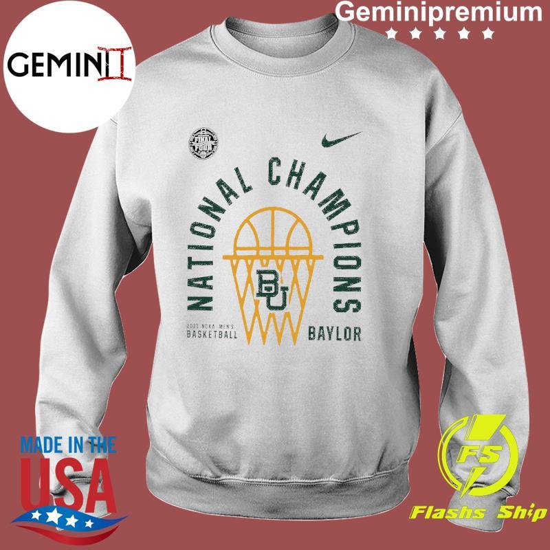 Baylor Bears Nike 2021 NCAA Men's Basketball National Champions Arc Velocity T-Shirt Sweater