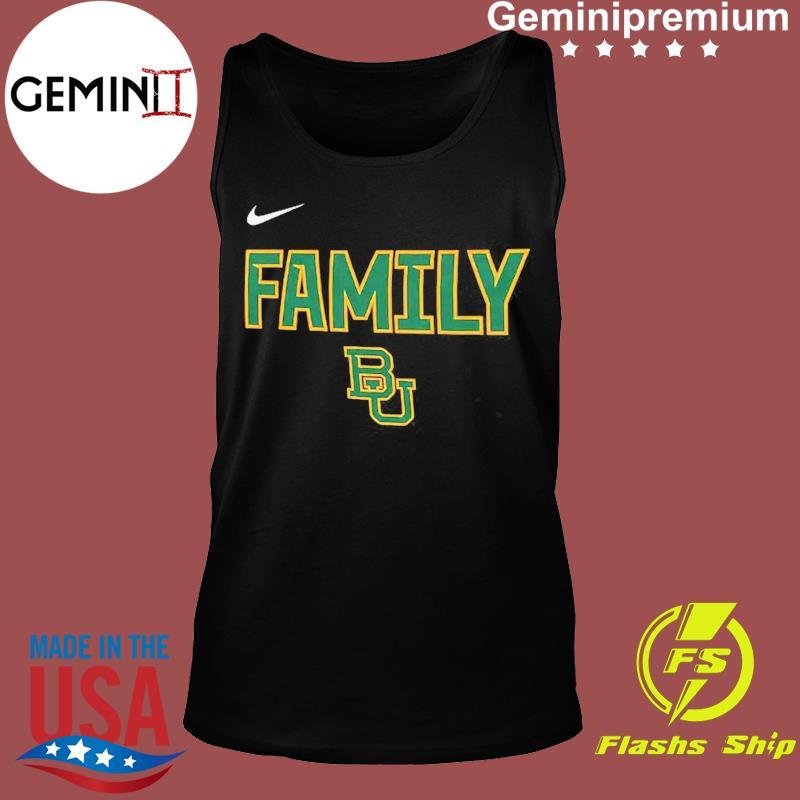 Nike BU Baylor Bears 2021 NCAA Men's Basketball Tournament March Madness Final Four Bound Family Legend Shirt Tank top