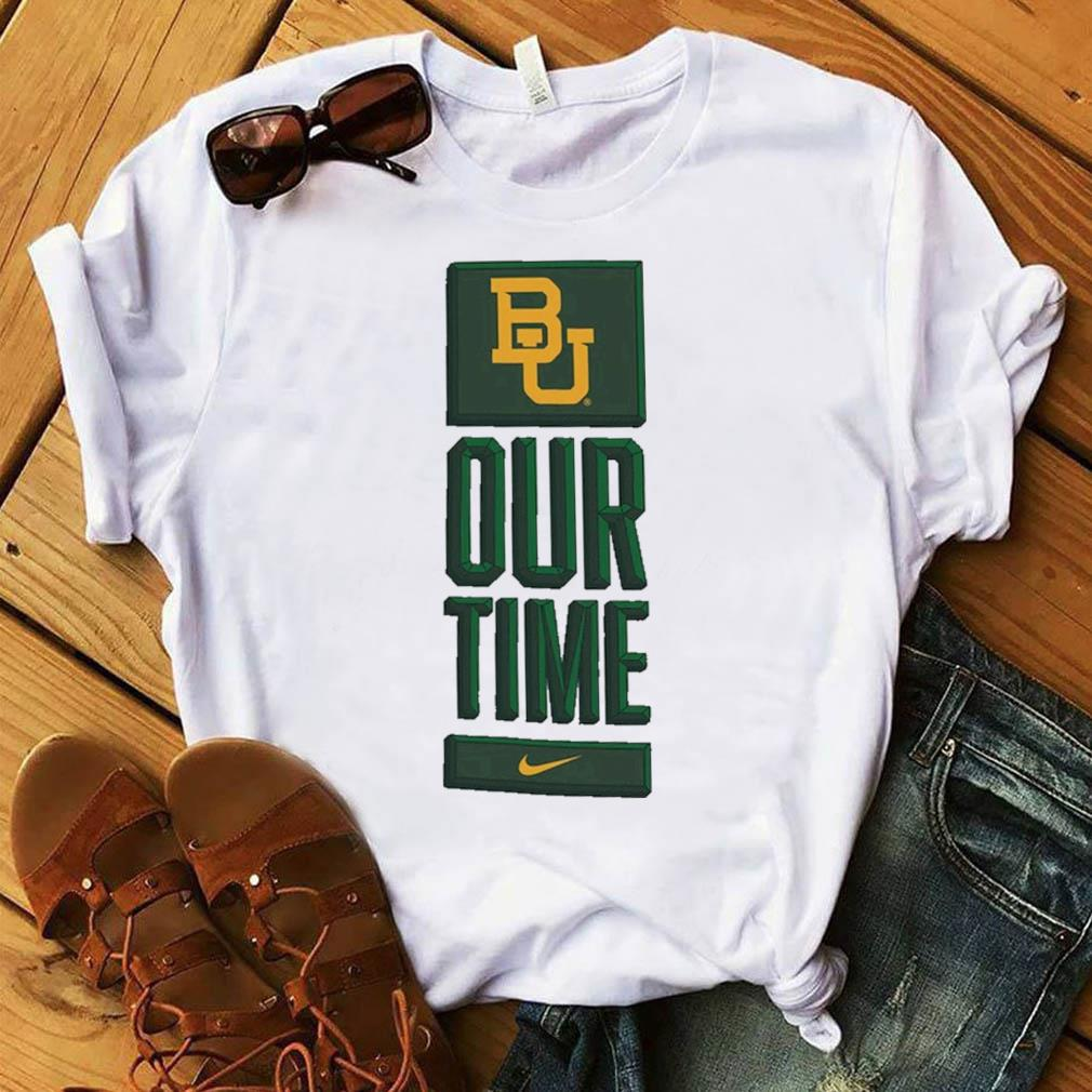 Nike BU Baylor Bears Basketball Our Time Bench Legend Performance Shirt