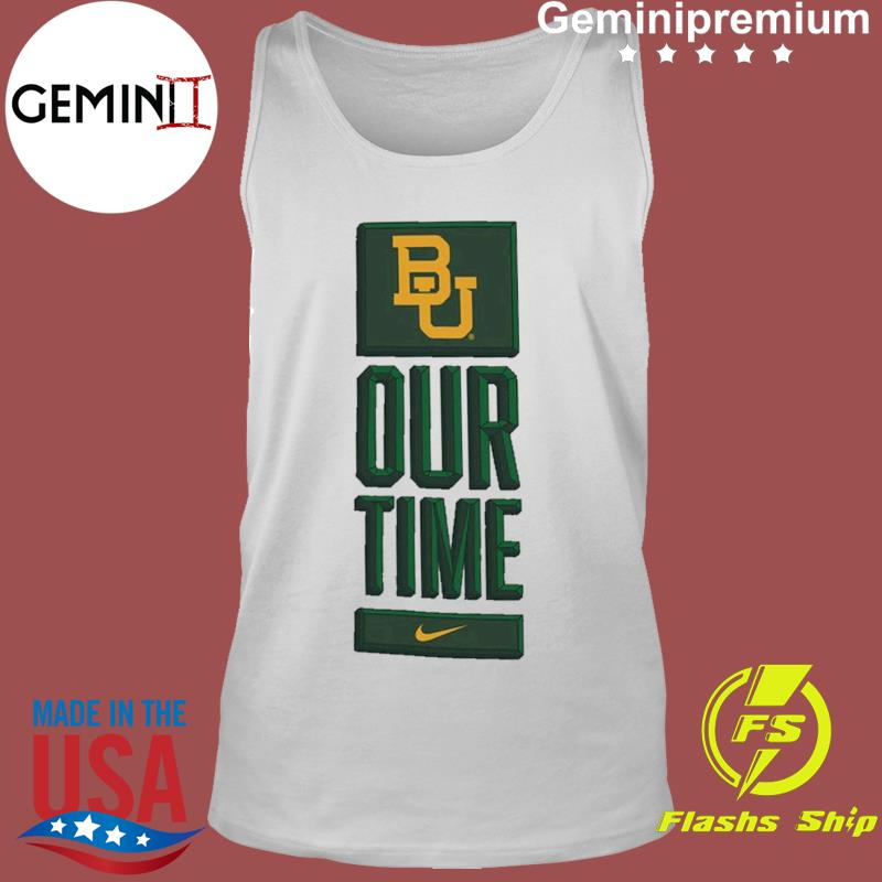 Nike BU Baylor Bears Basketball Our Time Bench Legend Performance Shirt Tank Top