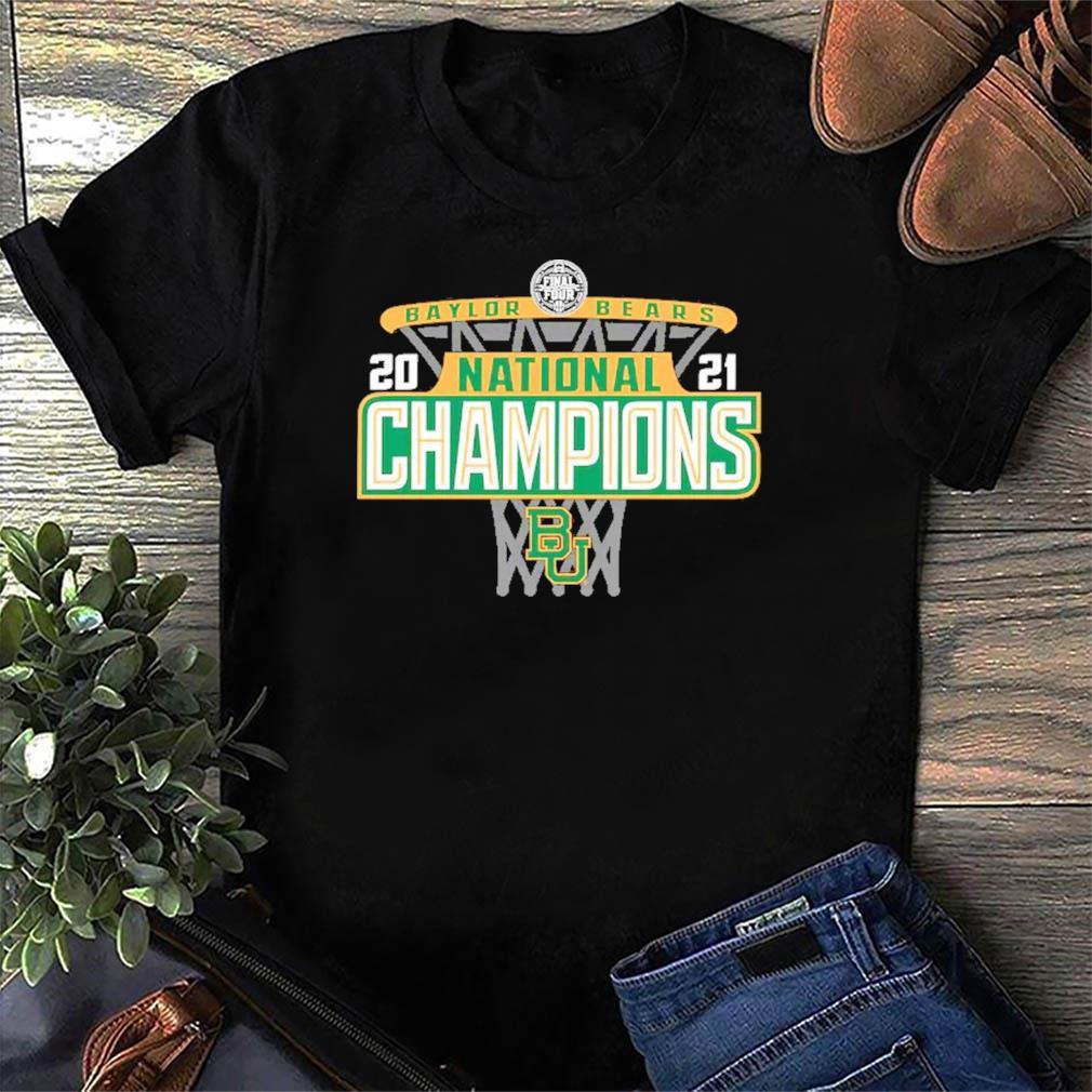 Official Baylor Bears 84 2021 NCAA Men's Basketball National Champions Bracket T-Shirt