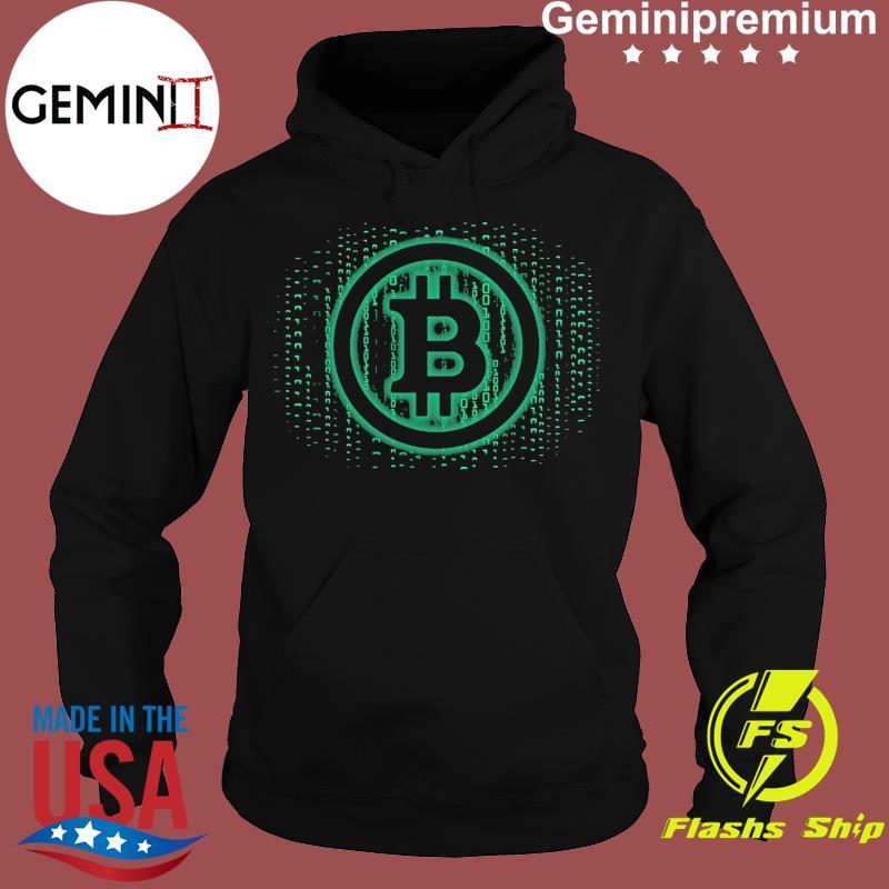 Official Bitcoin Matrix Shirt Hoodie
