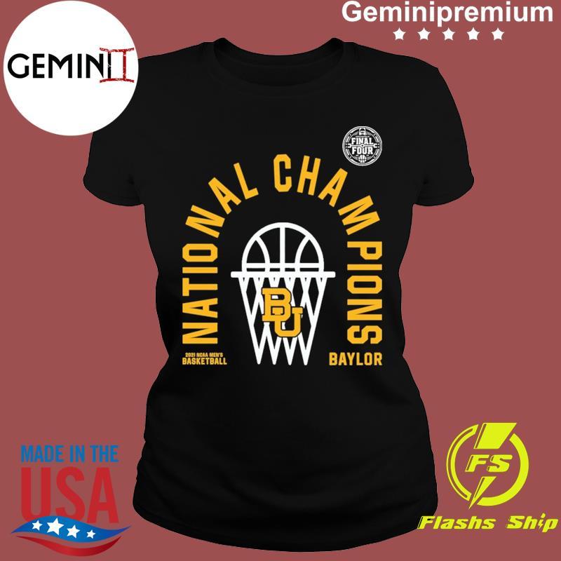 Official BU Baylor Bears 2021 NCAA Men's Basketball National Champions Arc Velocity Shirt Ladies tee