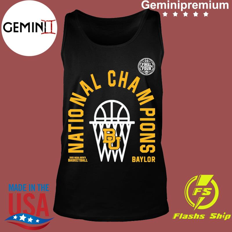 Official BU Baylor Bears 2021 NCAA Men's Basketball National Champions Arc Velocity Shirt Tank top