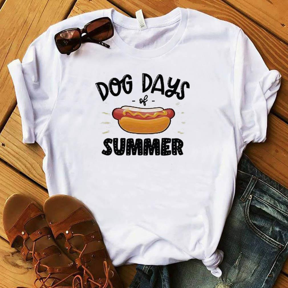 Official Hot Dog With Dog Day Of Summer Shirt