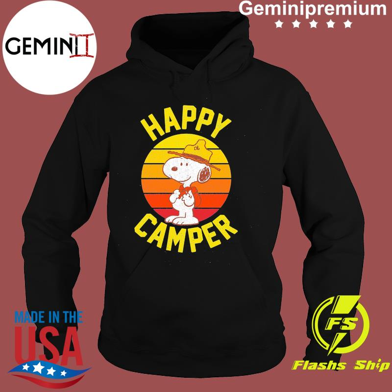 Official Snoopy Happy Camper Vintage Retro Shirt Hoodie
