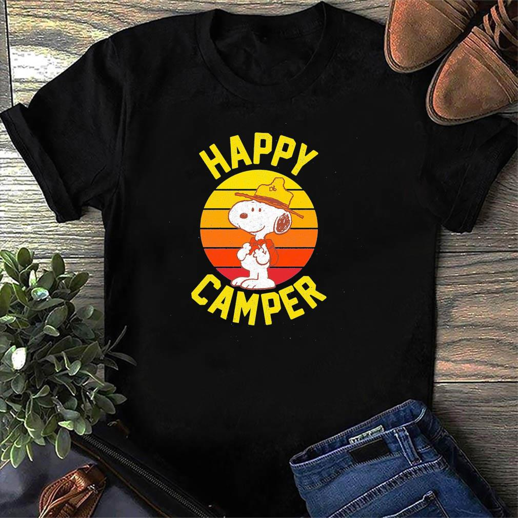 Official Snoopy Happy Camper Vintage Retro Shirt