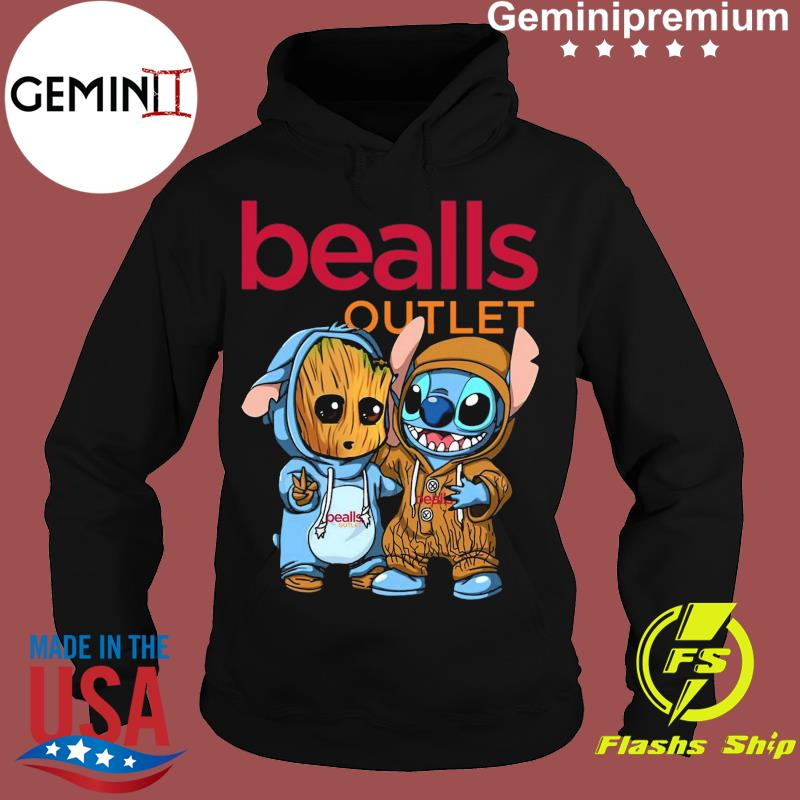 Best Friends Baby Groot And Baby Stitch Bealls Outlet Logo Shirt Hoodie