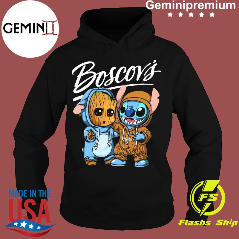 Best Friends Baby Groot And Baby Stitch Boscov's Logo Shirt Hoodie