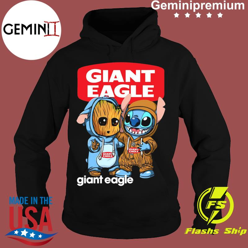 Best Friends Baby Groot And Baby Stitch Giant Eagle Logo Shirt Hoodie