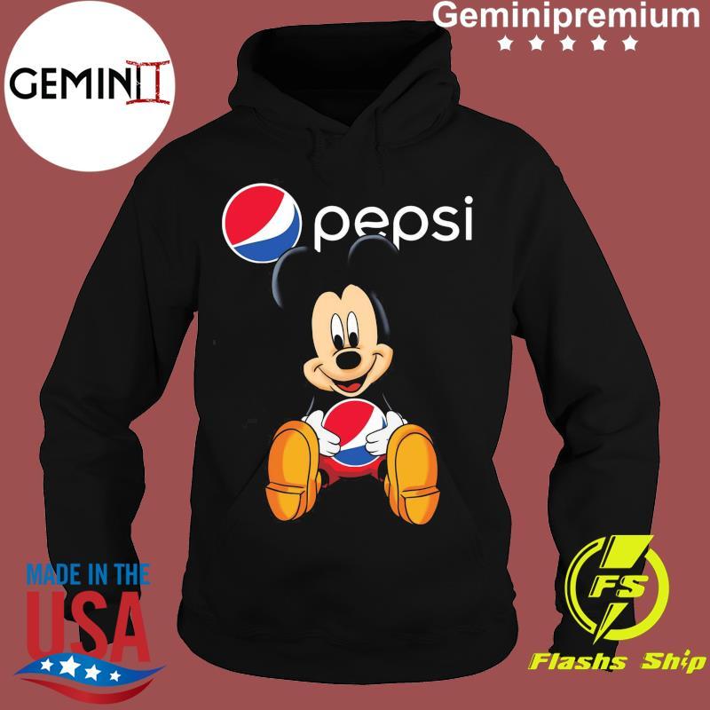 Disney Mickey Mouse Hug Pepsi Logo Shirt Hoodie