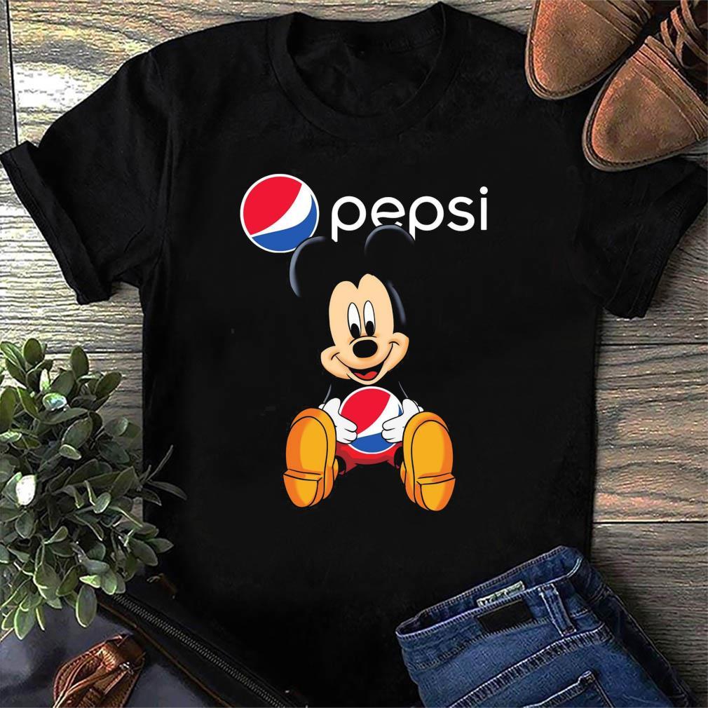 Disney Mickey Mouse Hug Pepsi Logo Shirt