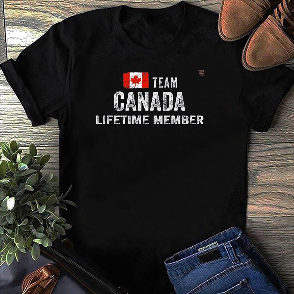 Funny Team Canada Lifetime Member Flag Shirt