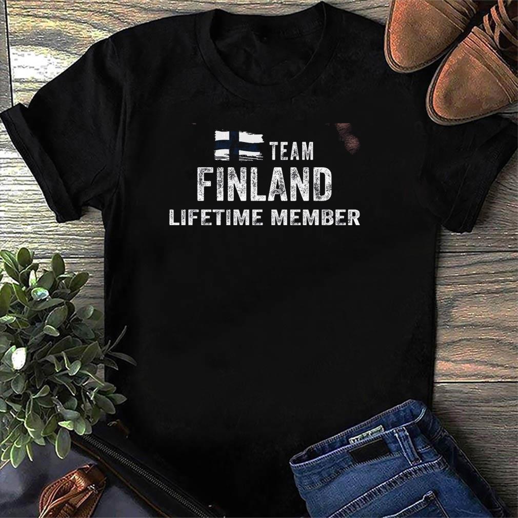 Funny Team Finland Lifetime Membeacr Flag Shirt