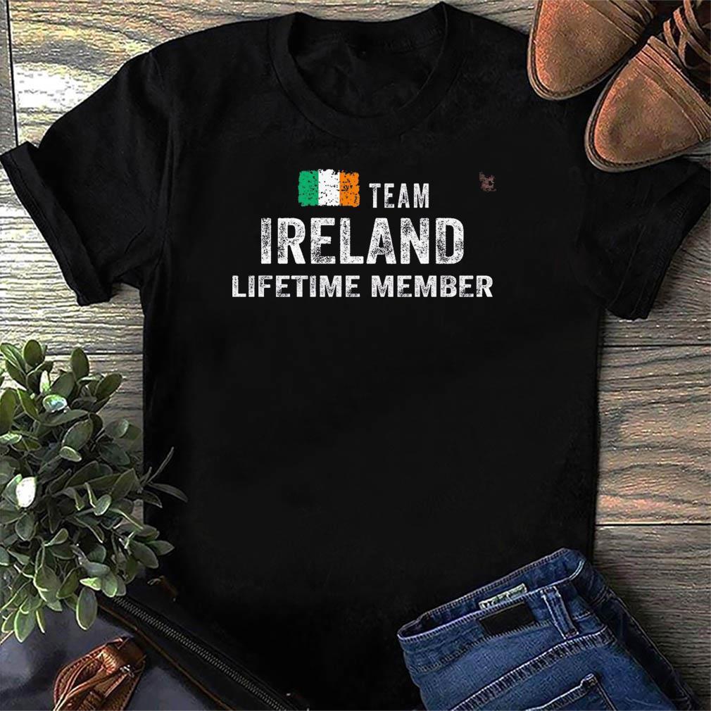 Funny Team Ireland Lifetime Member Flag Shirt