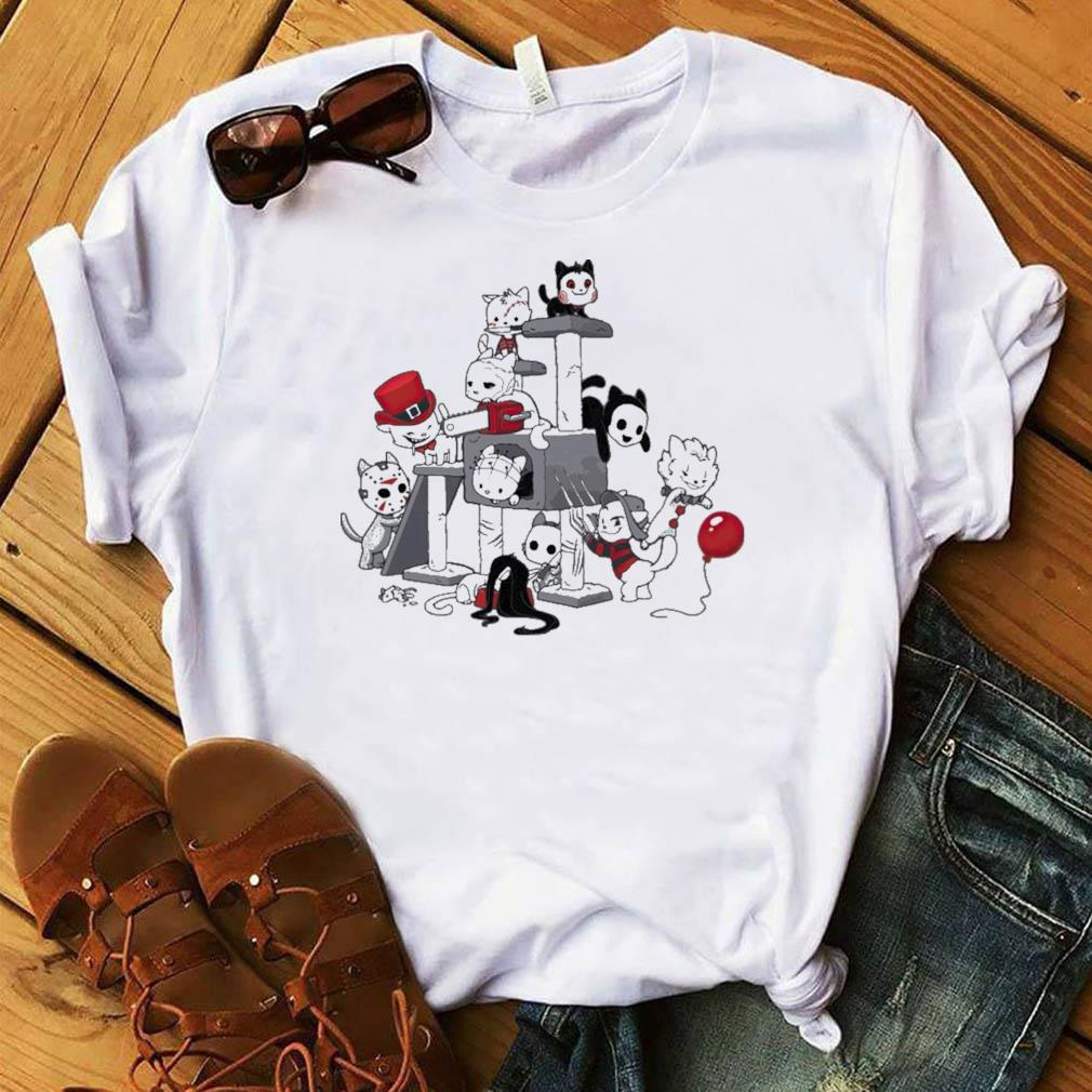 Horror Halloween Cats Lover Funny Cute Cat Play With Halloween 2021 Shirt Masswerks Store