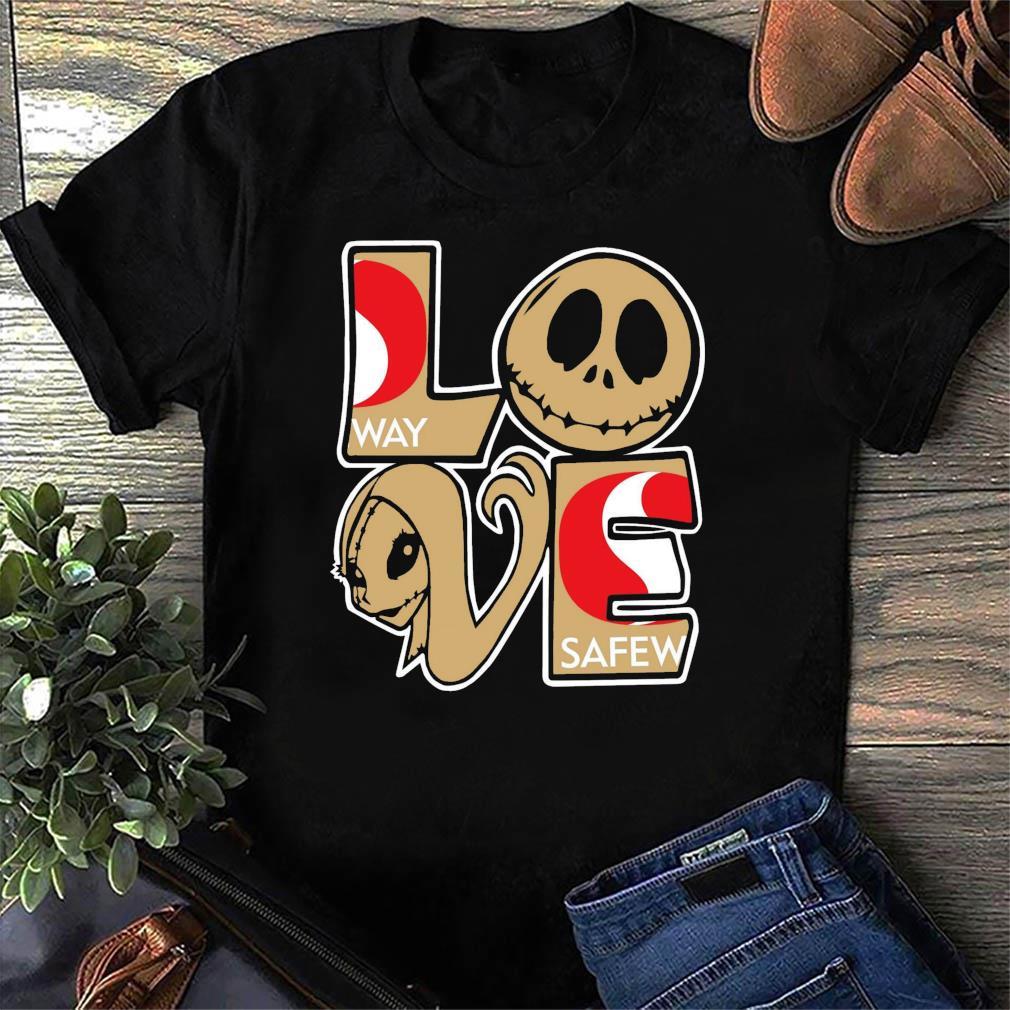 Jack Skellington And Sally Love Safeway Logo Shirt