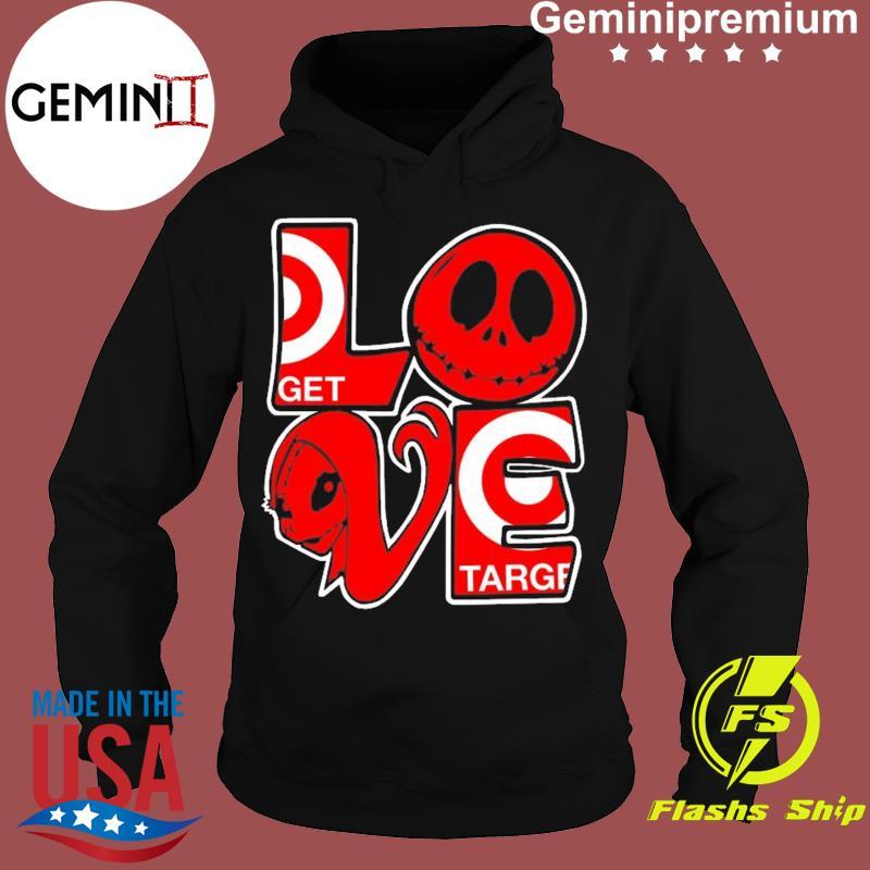 Jack Skellington And Sally Love Target Logo Shirt Hoodie