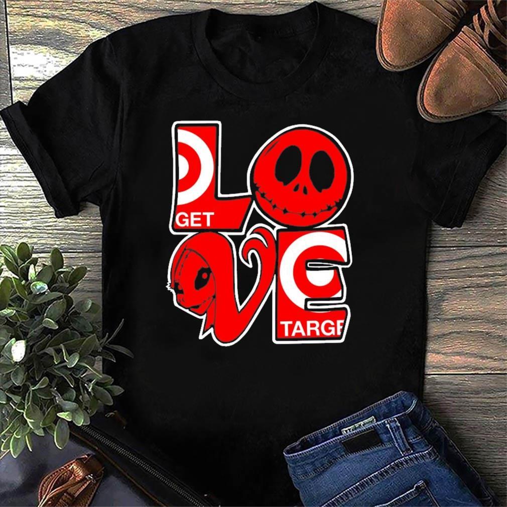 Jack Skellington And Sally Love Target Logo Shirt