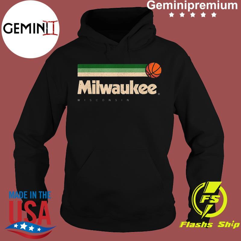 Milwaukee Basketball B-Ball City Wisconsin Retro Milwaukee TeeShirt Hoodie