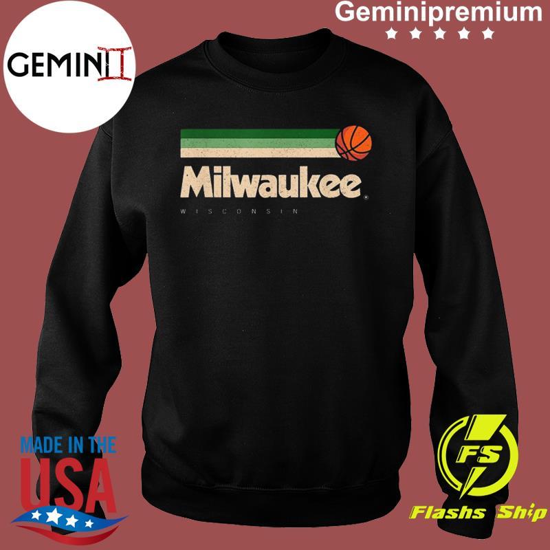 Milwaukee Basketball B-Ball City Wisconsin Retro Milwaukee TeeShirt Sweater
