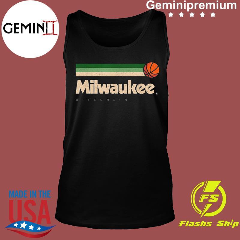 Milwaukee Basketball B-Ball City Wisconsin Retro Milwaukee TeeShirt Tank top