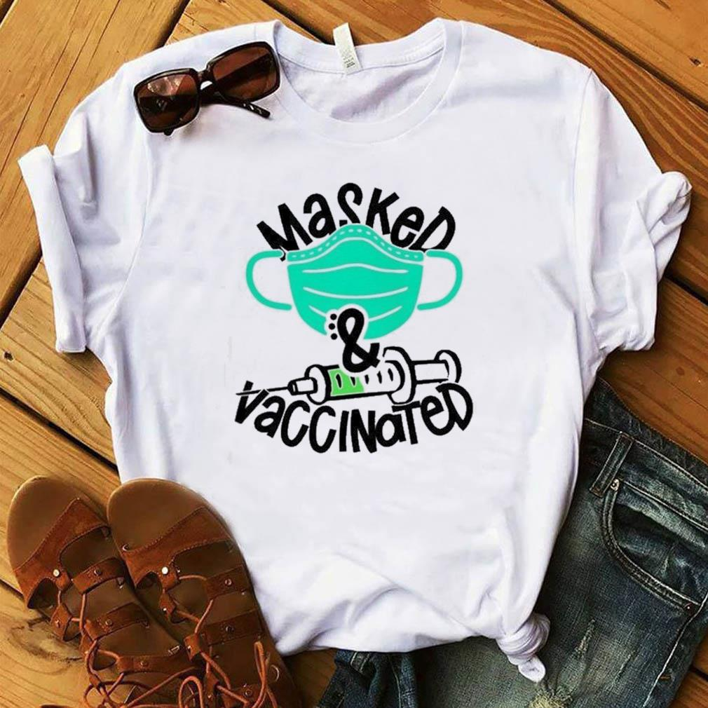 Official Masked And Vaccinated Funny T-shirt