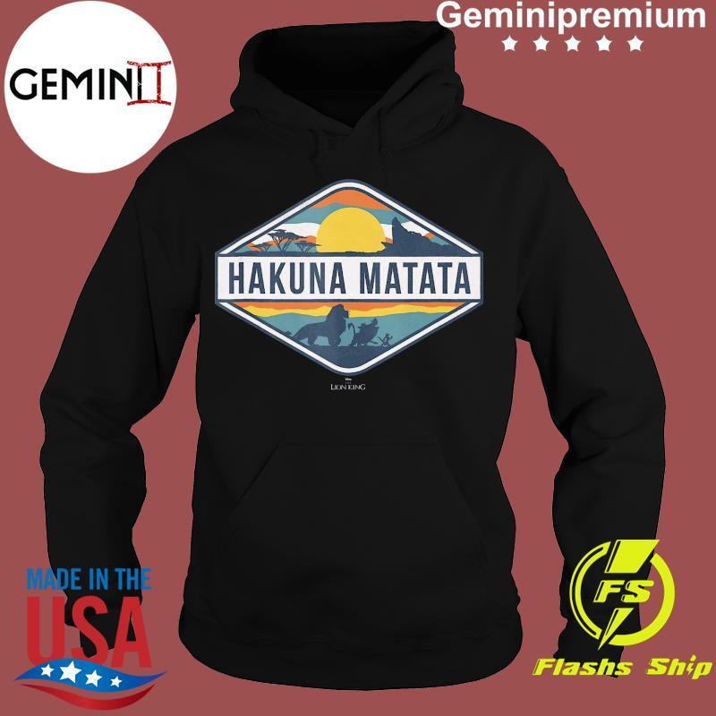 Official The Lion King Hakuna Matata Diamond Logo T-Shirt Hoodie