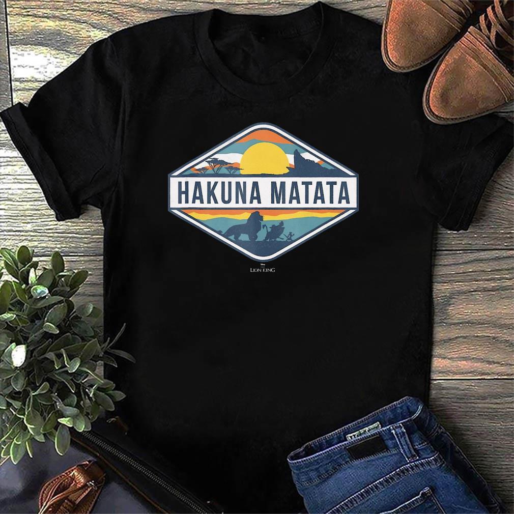Official The Lion King Hakuna Matata Diamond Logo T-Shirt