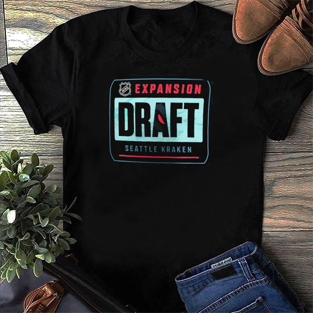 The Seattle Kraken 2021 NHL Expansion Draft Logo T-Shirt ...