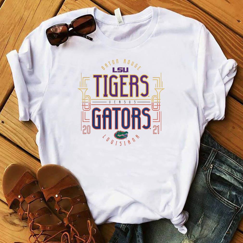 Baton Rouge LSU Tigers Versus vs. Florida Gators Louisiana 2021 T-Shirt