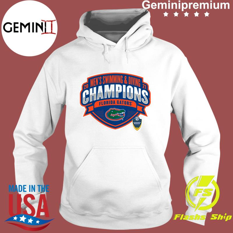 Florida Gators 2021 SEC Men's Swimming & Diving Conference Champions T-Shirt Hoodie