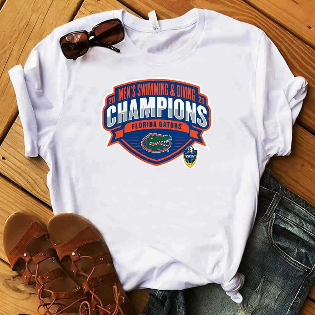 Florida Gators 2021 SEC Men's Swimming & Diving Conference Champions T-Shirt