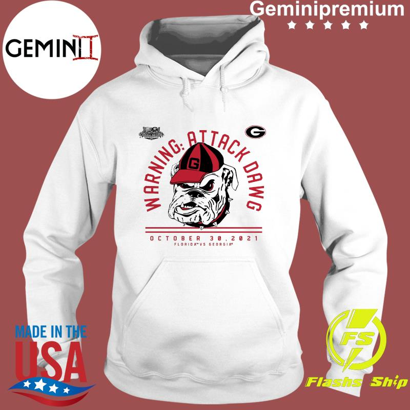Official Georgia Bulldogs Warning Attack Dawg October 30 2021 T-Shirt Hoodie