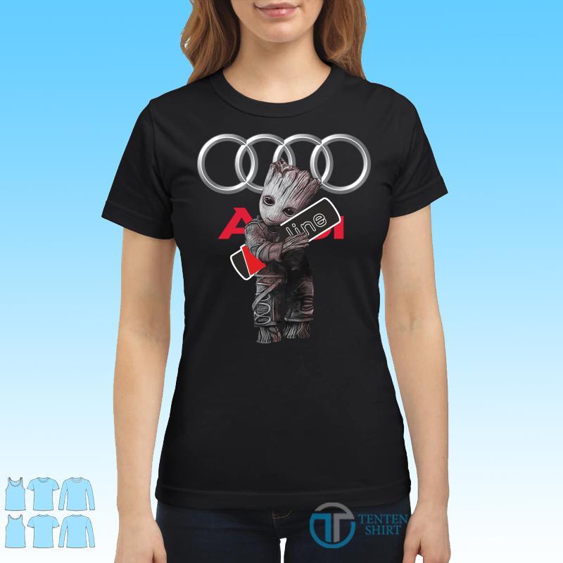Baby Groot hug Audi SLine shirt Ladies tee