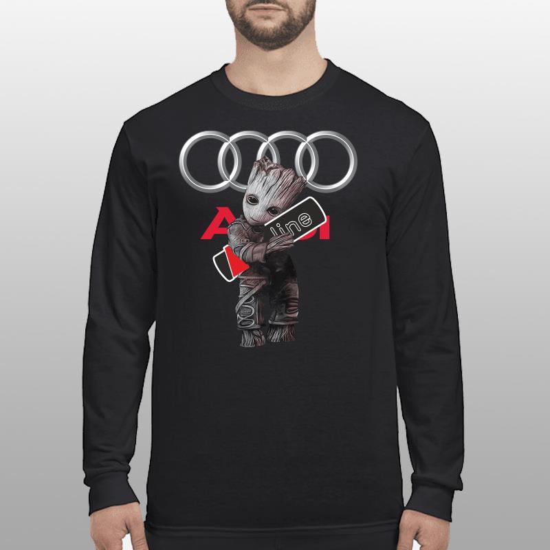 Baby Groot hug Audi SLine shirt longsleeve