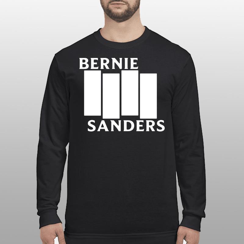 Bernie Sanders Black Flag shirt longsleeve