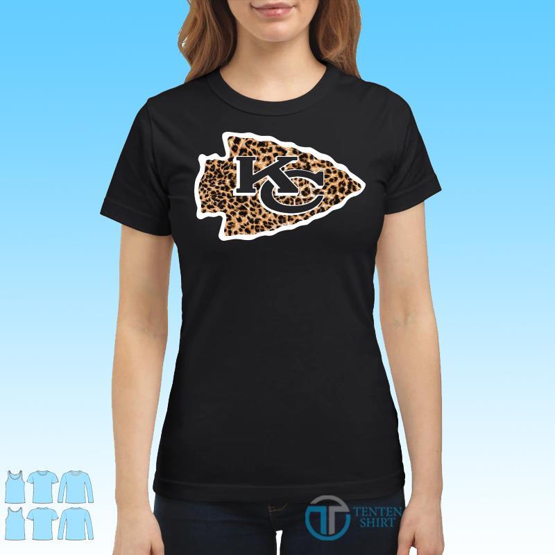 Kansas City Chiefs leopard shirt Ladies tee