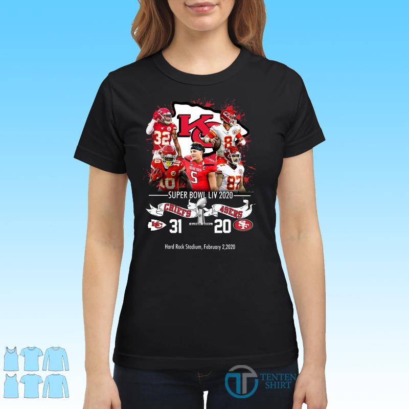 Kansas City Chiefs NFL Super Bowl Liv 2020 Vs San Francisco 49ers shirt Ladies tee
