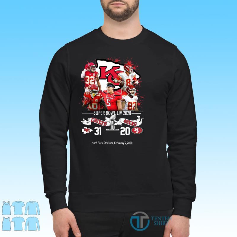 Kansas City Chiefs NFL Super Bowl Liv 2020 Vs San Francisco 49ers shirt Sweater