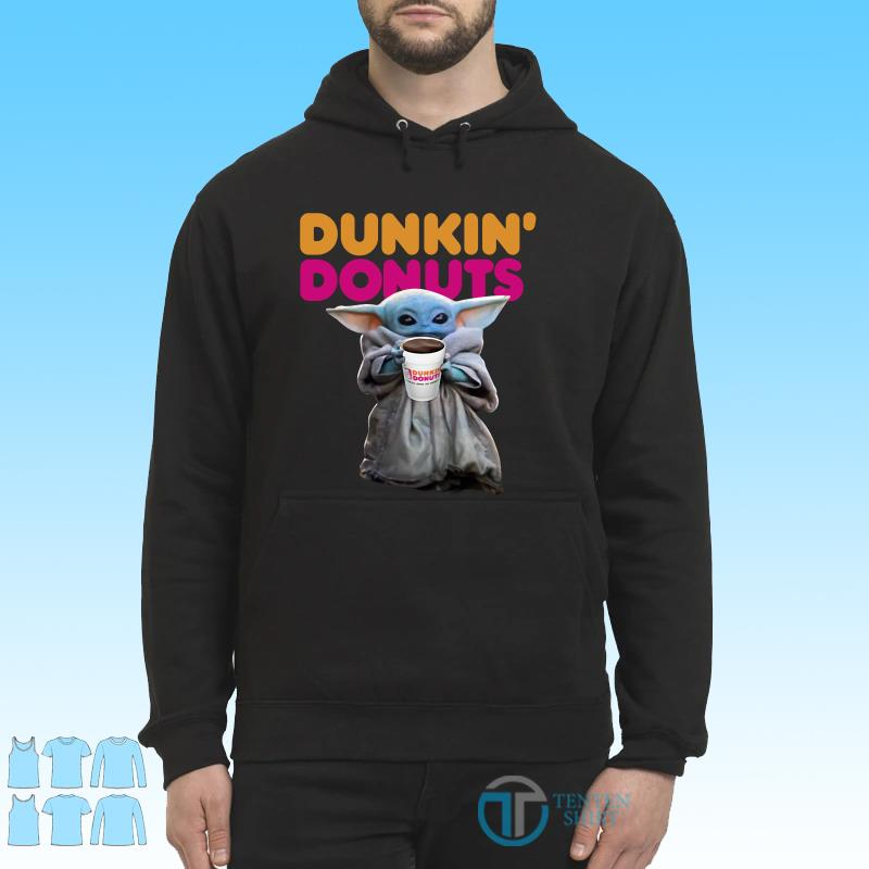Star Wars Baby Yoda Dunkin' Donuts shirt Hoodie